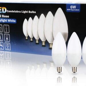 Candelabra Base Bulb, 6 Packs