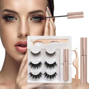 Magnetic Eyelashes Kit with Magnetic Lashes and Magnetic Eyeliner