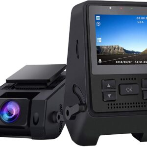 1080P Full HD Dash Cam Super Night Vision, 170° Wide Angle, Motion Detection, Parking Monitoring, G-Sensor, Loop Recording
